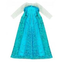 Rappa Oblečení pro panenku zimní království Modré s bílými rukávy