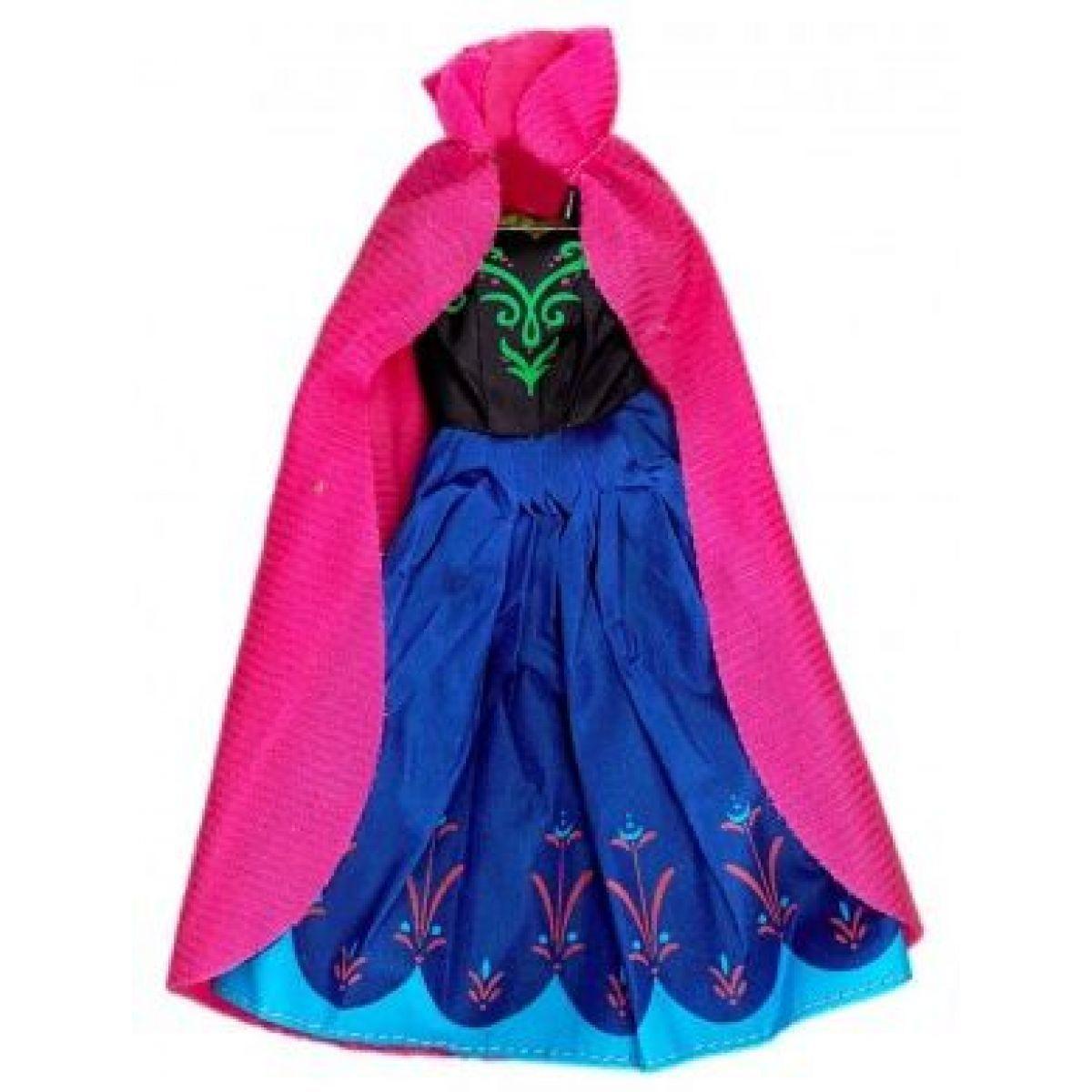 Rappa Oblečení pro panenku zimní království Růžový plášť