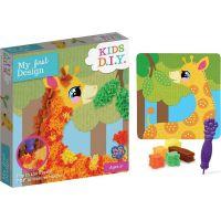 Rappa Obrázek kreativní žirafa s textilem