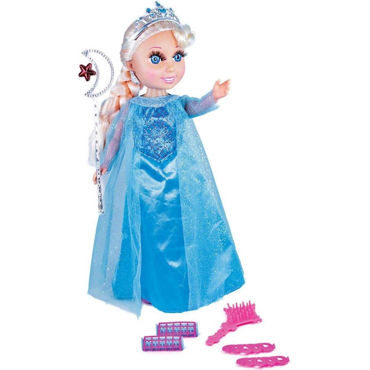 Panenka zimní princezna blond s příslušenstvím