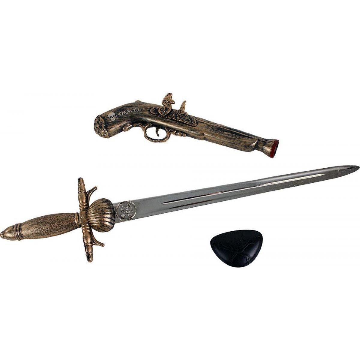 Rappa Pirátska sada pištoľ s mečom a klapkou na oko