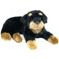 Plyšový pes rotvajler 45 cm