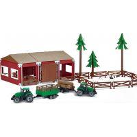 Rappa Sada farma se stájí, traktory a zvířaty