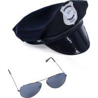 Rappa Sada Policejní čepice s brýlemi pro dospívající