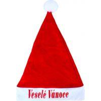 Rappa Vánoční čepise s nápisem Veselé Vánoce