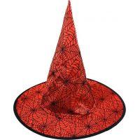 Rapppa Klobouk čarodějnický červený pro dospělé