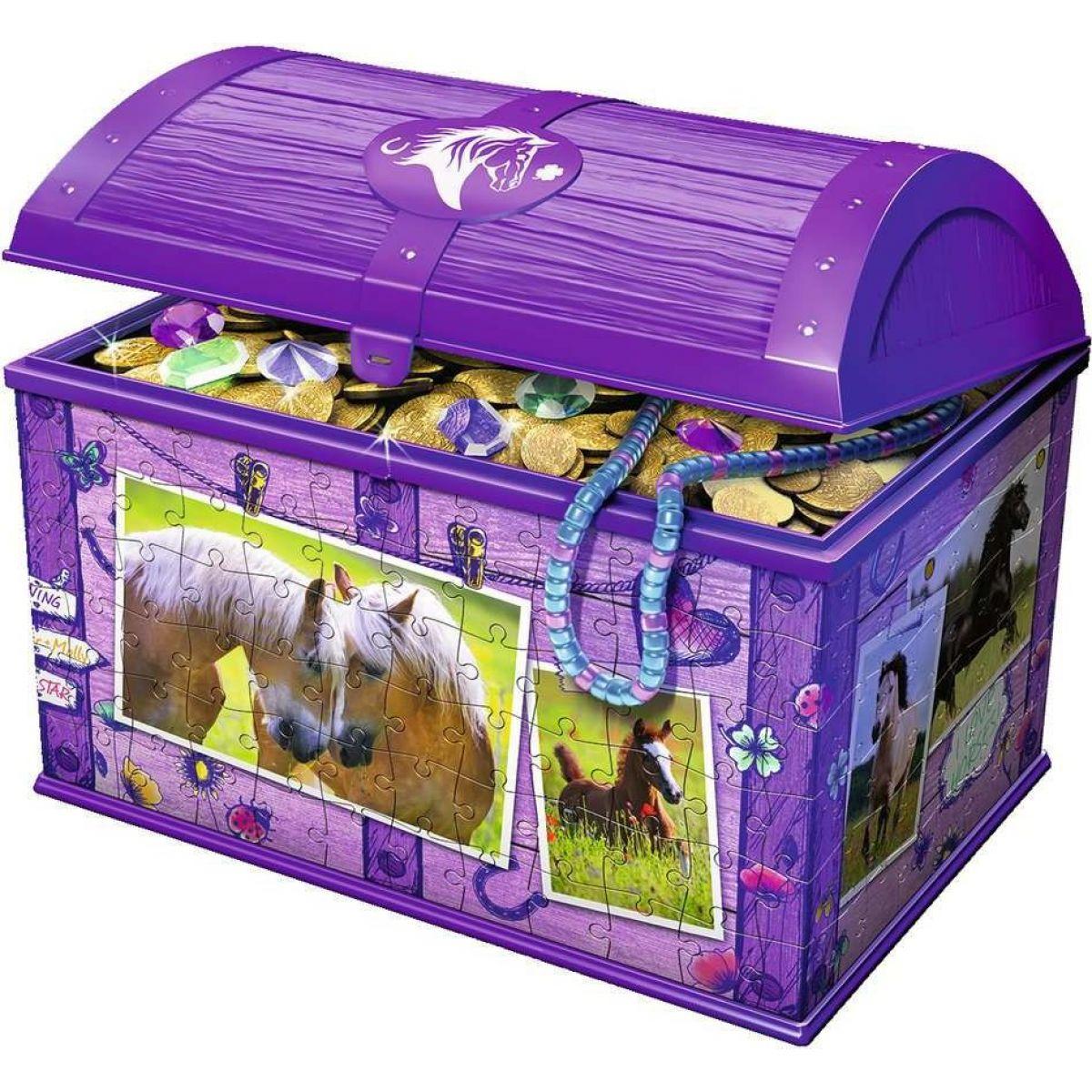 Ravensburger 3D puzzle Úložná krabice s víkem Kůň 216 dílků