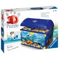 Ravensburger 3D puzzle Úložná krabice s víkem Podvodní svět 216 dílků
