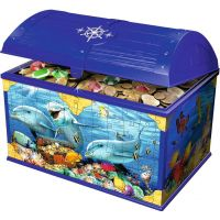 Ravensburger 3D puzzle 111749 Úložná krabica s vekom Podvodné svet 216 dielikov