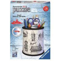 Ravensburger 3D Puzzle 112265 Stojan na tužky Kresba Prahy 54 dílků