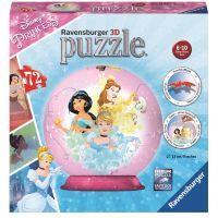 Ravensburger 3D Puzzle 118090 Disney Princezny 72 dílků