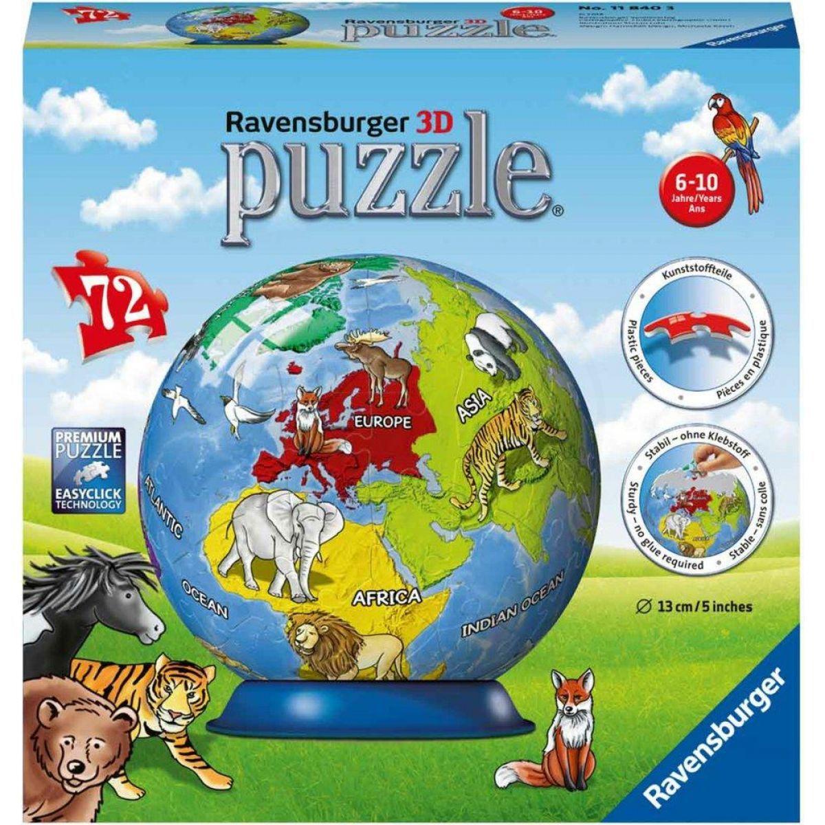 Ravensburger 3D Puzzle Malovaný globus 72 dílků