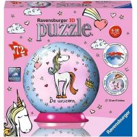 Ravensburger 3D Puzzle 118410 Jednorožec 72 dílků