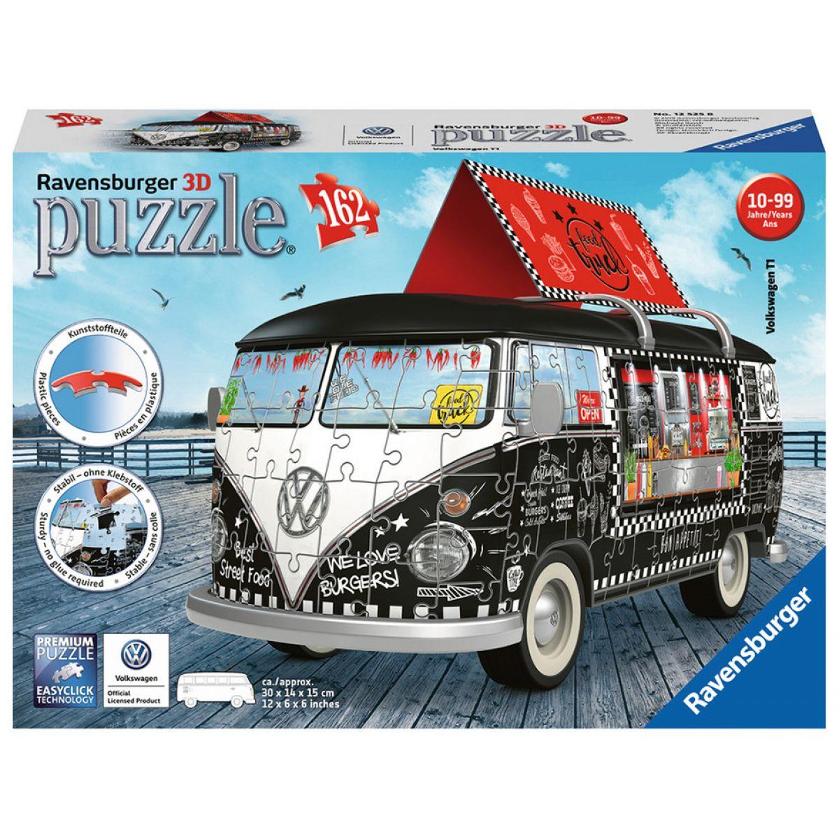Ravensburger 3D Puzzle 125258 VW Autobus pojízdné občerstvení 162 dílků