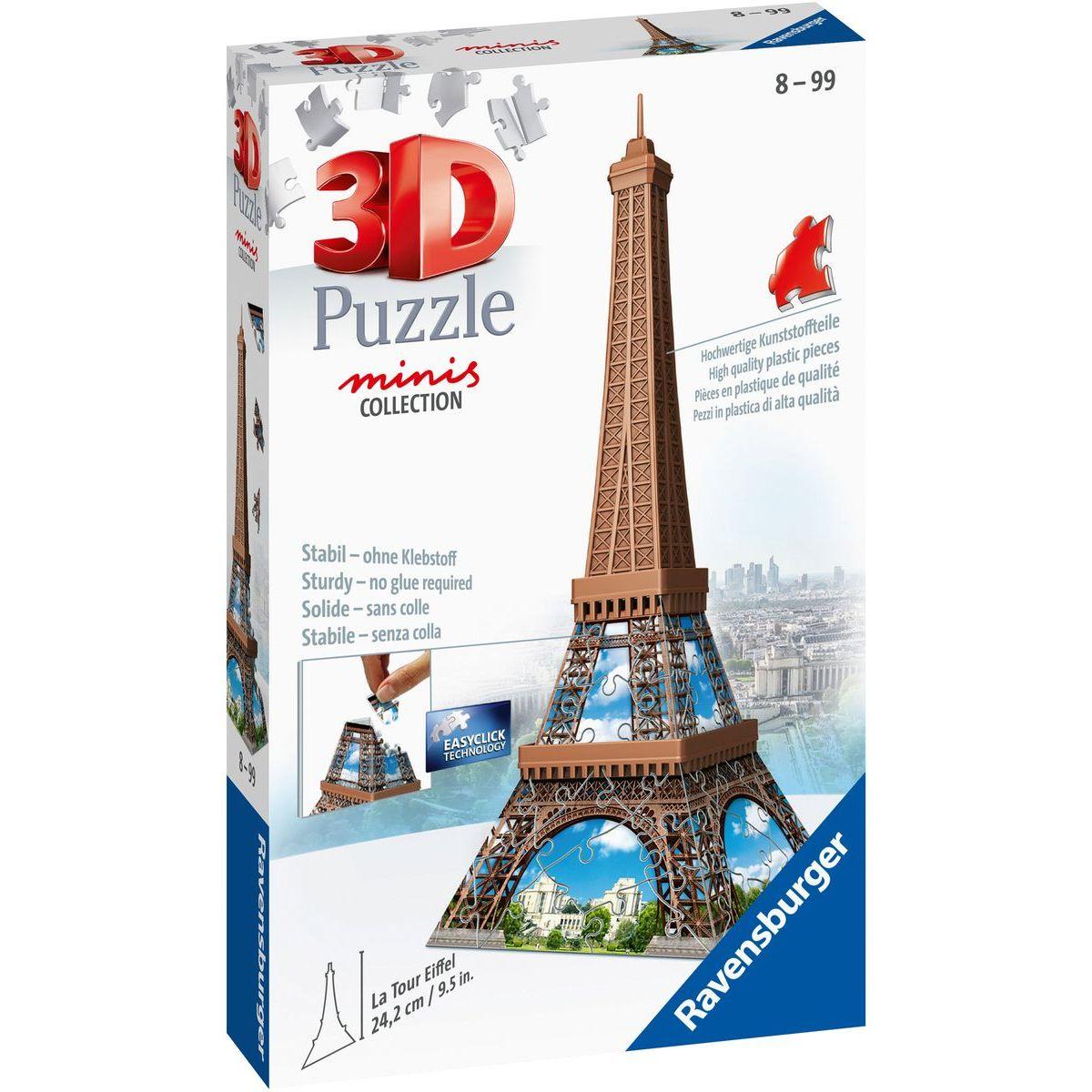 Ravensburger 3D Puzzle Mini budova Eiffelova věž položka 54 dílků