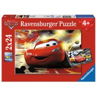 Ravensburger Cars Puzzle Auta v akci 2x24 dílků