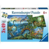 Ravensburger Dinosauři 3 x 49 dílků