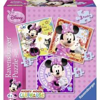 Ravensburger Disney Minnie Mouse 3 in a Box puzzle 25, 36, 49 dílků