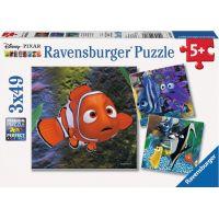 Ravensburger Disney Nemo V akváriu puzzle 3 x 49 dílků