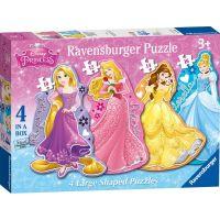 Ravensburger Disney Princezny 4 v 1 tvary puzzle