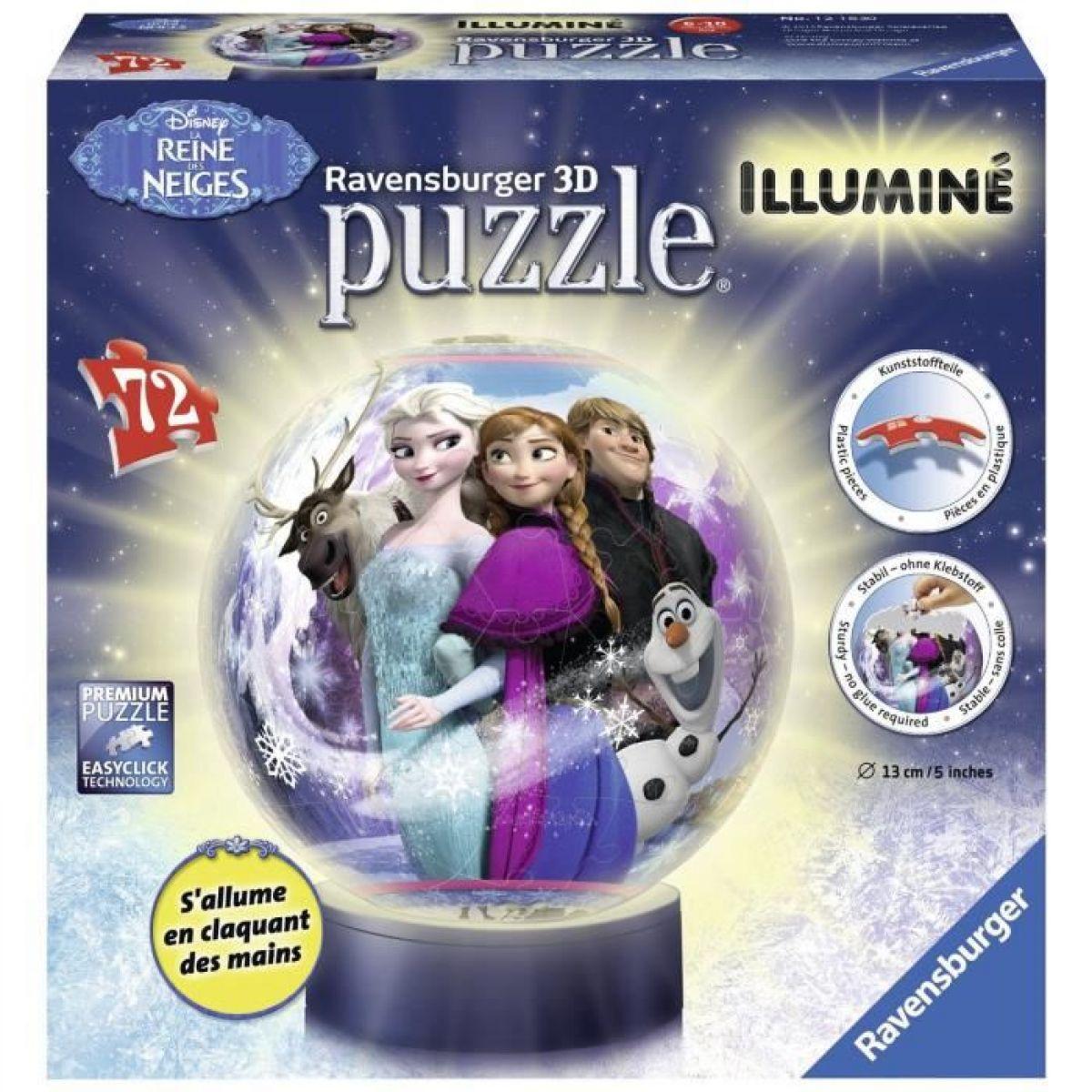 Ravensburger Ledové království Puzzleball svítící 72 dílků