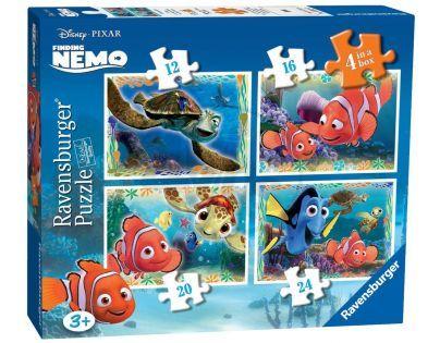 Ravensburger Disney Puzzle Hledá se Nemo 4x puzzle v boxu