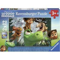 Ravensburger Disney Puzzle Hodný dinosaurus 2x12 dílků