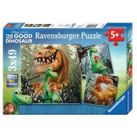 Ravensburger Disney Puzzle Hodný Dinosaurus 3 x 49 dílků