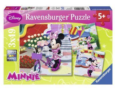 Ravensburger Disney Krásná Minnie Mouse 3 x 49 dílků