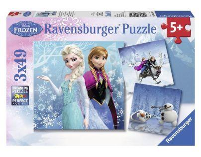 Ravensburger Disney Ledové království dobrodružství na sněhu 3 x 49 dílků