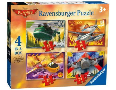 Ravensburger Disney Letadla 4 x puzzle v boxu