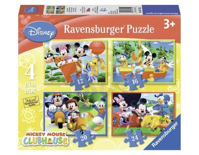Ravensburger Disney Mickeyho Mouse Klubík 4 x puzzle v boxu