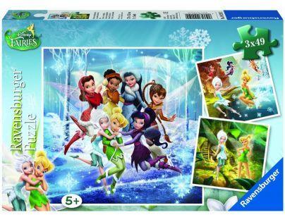 Ravensburger Disney Víly čtyři roční období 3 x 49 dílků