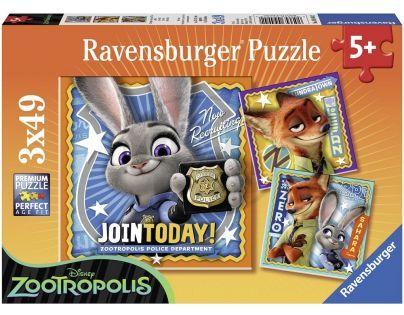 Ravensburger Disney Puzzle Zootropolis 3 x 49 dílků