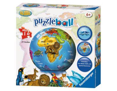 Ravensburger 12126 - Puzzle Ball Globus 72 dílků