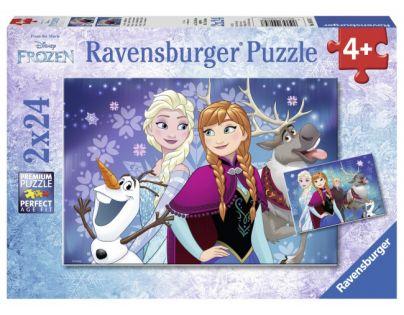 Ravensburger Ledové království Puzzle 2 x 24 dílků