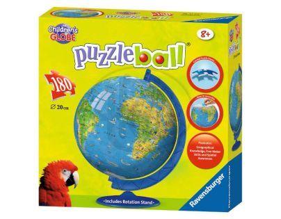 Ravensburger 12328 - Mapa světa Puzzleball 180 dílků