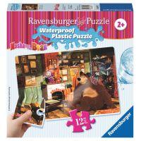 Ravensburger Máša a medvěd Voděodolné puzzle Obývací pokoj 12 dílků