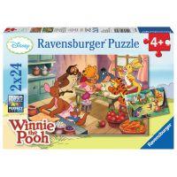 Ravensburger Medvídek Pú Puzzle Oslava 2 x 24 dílků