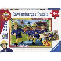 Ravensburger puzzle Požárník Sam a jeho tým 2 x 12 dílků