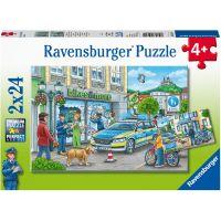 Ravensburger puzzle Policejní vyšetřování 2 x 24 dílků