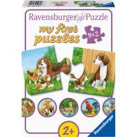 Ravensburger puzzle Zvířátka na dvoře 9 x 2 dílků