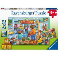 Ravensburger puzzle V obchodě 2 x 12 dílků