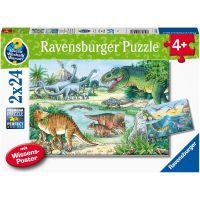 Ravensburger Puzzle Dinosauři 2 x 24 dílků