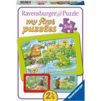 Ravensburger Puzzle Malé záhradné zvieratá 3 x 6 dielikov