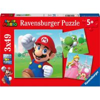 Ravensburger Puzzle Super Mario 3 x 49 dielikov