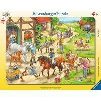 Ravensburger puzzle Na koňské farmě 40 dílků