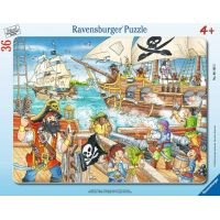 Ravensburger puzzle Útok pirátů 36 dílků