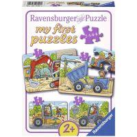 Ravensburger Puzzle Moje oblíbená vozidla na stavbě 2 4 6 8 dílků
