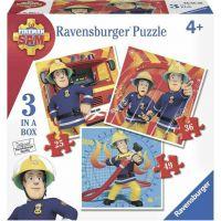 Ravensburger puzzle 070657 Požárník Sam 3 v 1